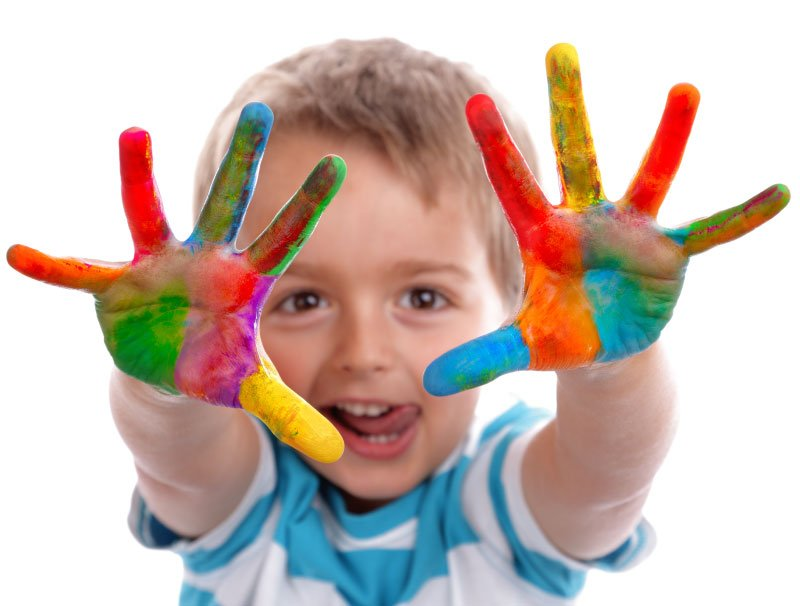 finger-painting-boy