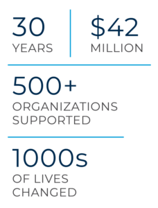 Windermere Foundation - 30 years, $42 Million, 500+ organizations supported, 1000s of lives changed-
