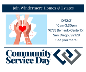 Join Windermere for Community Service Day, 10/12/21